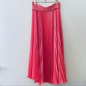Tracy Reese Sunburst Pleated Maxi Skirt NWT